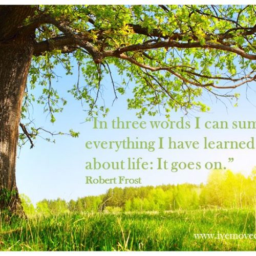 """""""In three words I can sum up everything I have learned about life: It goes on."""""""