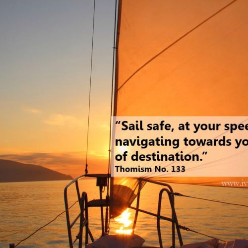 """Sail safe, at your speed, navigating towards your choice of destination."""